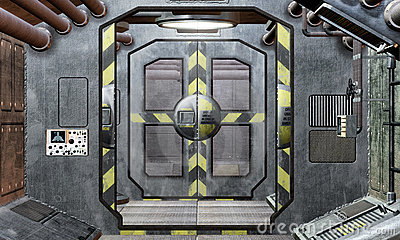 spaceship-hatch-and-corridor-background-thumb23307323